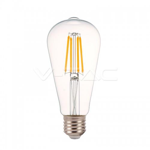 LED Крушка - 4W Filament E27 ST64 2700K Димируема