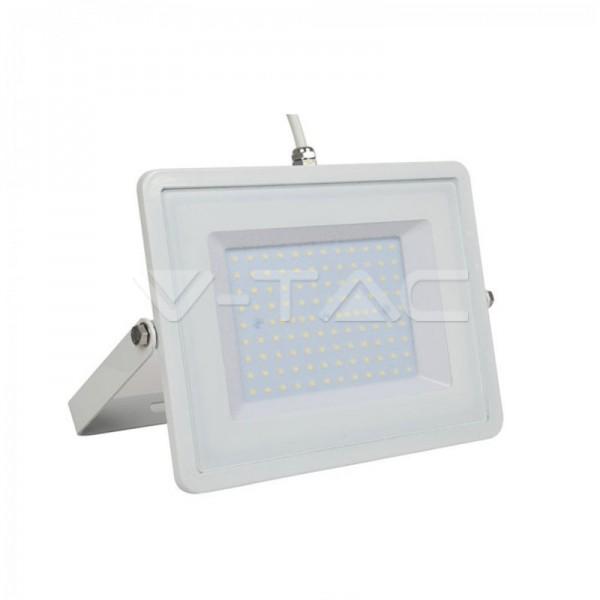 100W LED Прожектор Бяло Тяло Бял Кабел SMD