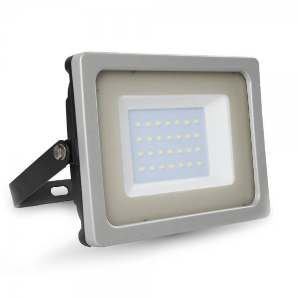 30W LED Прожектор SMD Черно/Сиво Тяло Неутрално Бяла Светлина