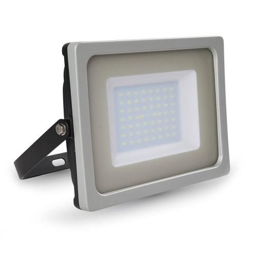 50W LED Прожектор SMD Черно/Сиво Тяло Бяла Светлина