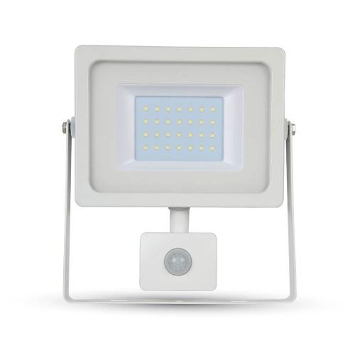 30W LED Прожектор SMD Сензор Бяло Тяло
