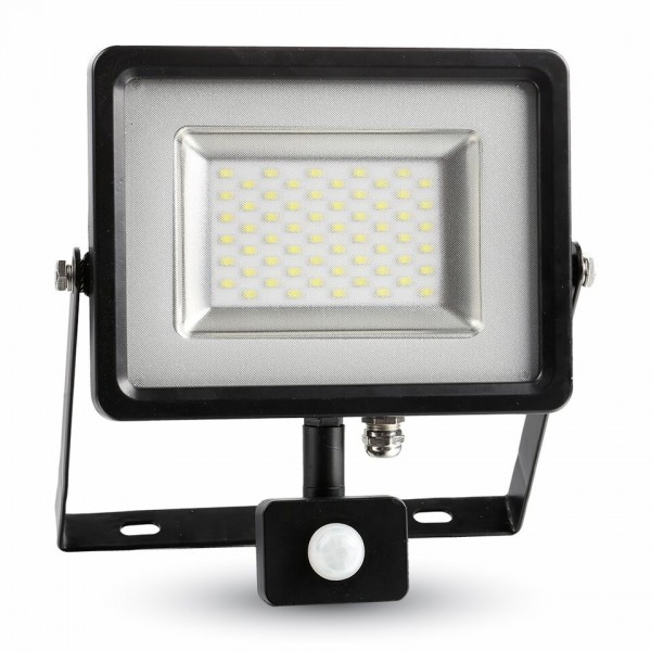 10W LED Сензор Прожектор Бяло Тяло