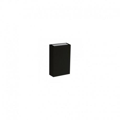 4W LED Аплик правоъгълен IP65 Черен 3000K