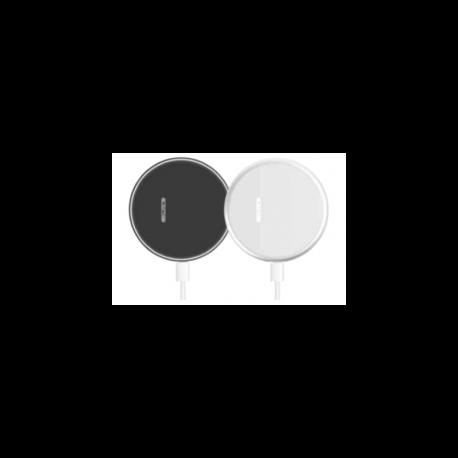 Безжично зарядно Бяло 5A Бързо зареждане Кръг