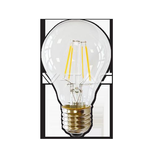 LED Крушка - 4W Filament E27 A60 Топло Бяла Светлина