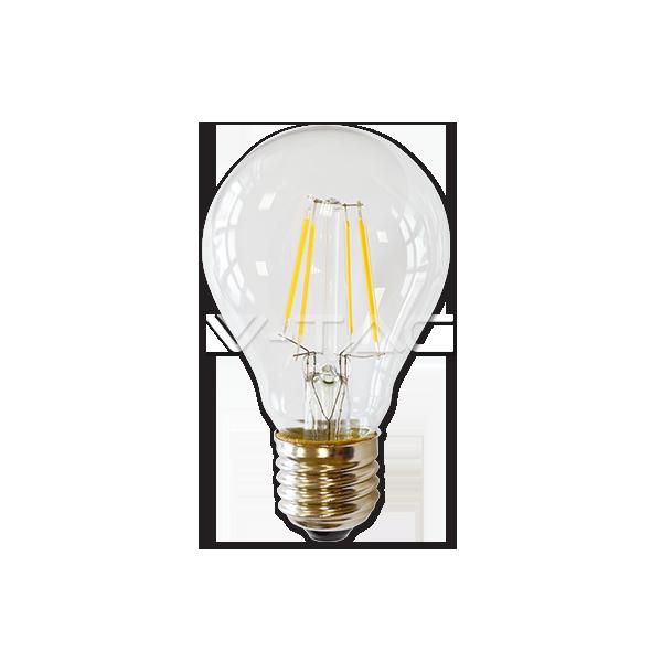 LED Крушка - 4W Filament E27 A60 Прозрачно Покритие