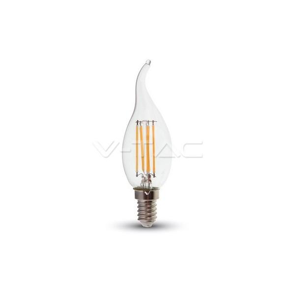 LED Крушка - 4W Filament E14 Кендъл Пламък