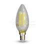 LED Крушка - 4W Filament E14 Матирано Покритие Кендъл