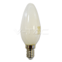 LED Крушка - 4W Filament E14 Бяло Покритие Кендъл