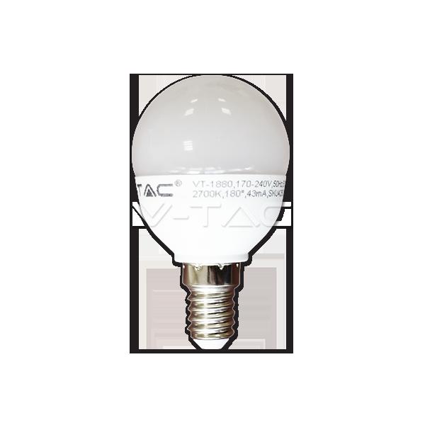 LED Крушка - 6W E14 P45