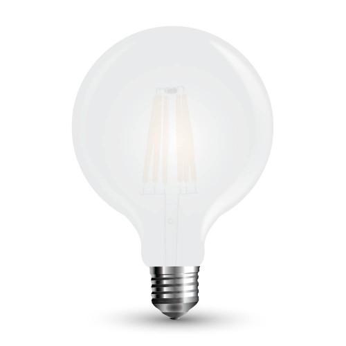 LED Крушка - 7W Filament E27 G125 Матирано Покритие Топло Бяла Светлина