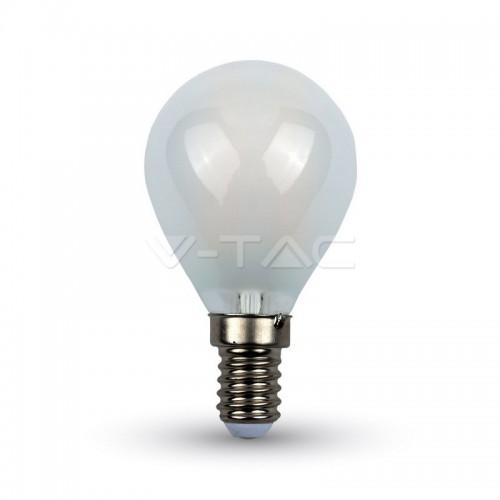LED Крушка - 4W Filament Кръст E14 P45 Матирано покритие Бяла Светлина