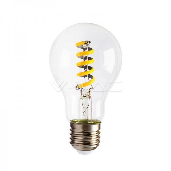 LED Крушка 4W Спирала Filament Amber Топло Бяла Светлина Е27