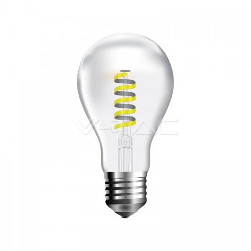 LED Крушка 4W Спирала Filament Мат Топло Бяла Светлина Е27
