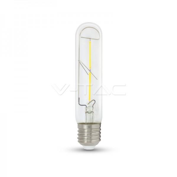 LED Крушка - 2W T30 E27 Filament Топло Бяла Светлина