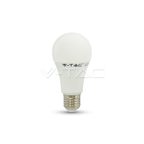LED Крушка - 12W E27 A60 Термо Пластик Топло Бяла Светлина Димируема