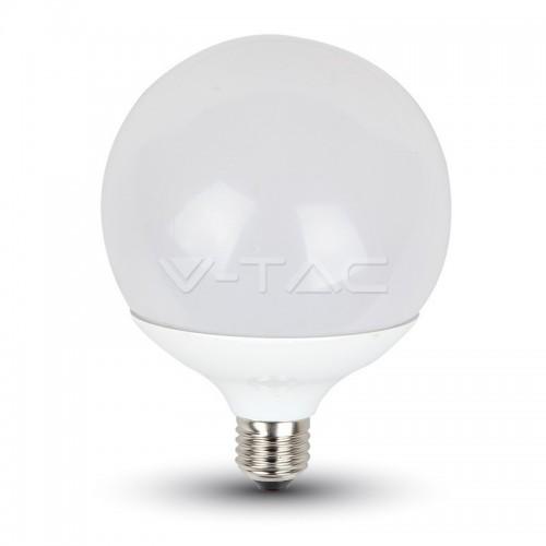LED Крушка - 13W E27 G120 Глобус Термо Пластик Неутрално Бяла Светлина Димируема