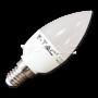 LED Крушка - 6W E14 Кендъл Топло Бяла Светлина Димируема