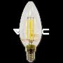 LED Крушка - 4W Filament E14 Кендъл Топло Бяла Светлина Димируема
