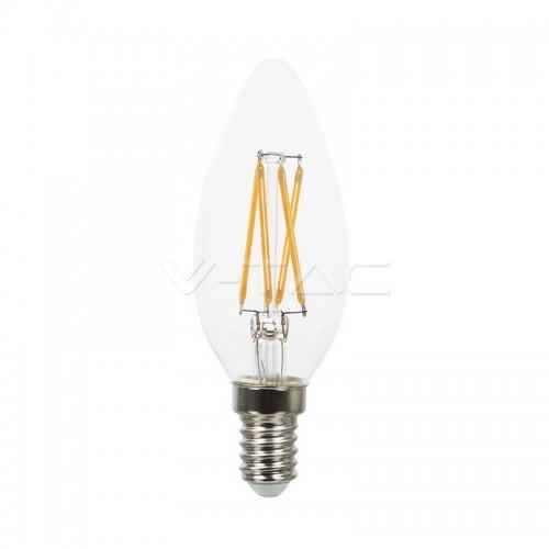 LED Крушка - 4W Filament Кръст E14 Кендъл Топло Бяла Светлина Димируема