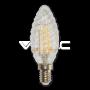 LED Крушка - 4W Filament E14 Кендъл Спирала Топло Бяла Светлина Димируема