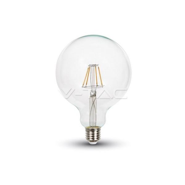 LED Крушка - 4W Filament E27 G125 Топло Бяла Светлина Димируема
