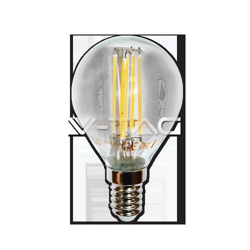 LED Крушка - 4W Filament E14 P45 Топло Бяла Светлина Димируема