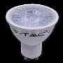 LED Крушка - 7W GU10 Пластик с Лупа Димируема