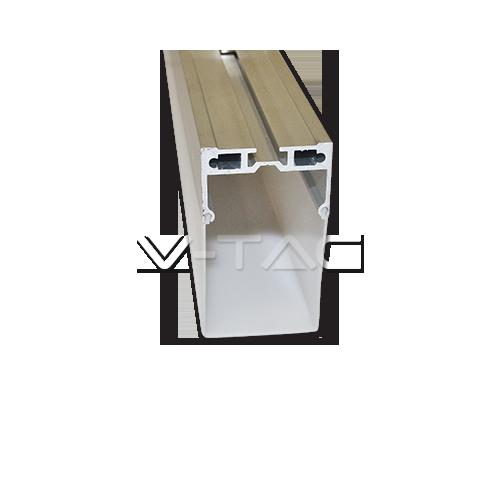 Алуминиев Профил С Окачване На Въже Матиран 100cm Правоъгълен