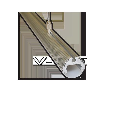 Алуминиев Профил С Окачване На Въже Матиран 100cm Кръгъл