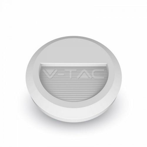 2W LED Осветление За Стъпала Бяло Тяло Кръг Топло