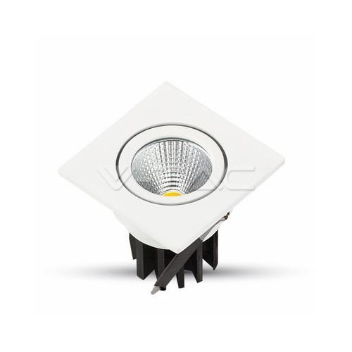 3W LED Луна COB Квадратен Модул - Бяло Тяло
