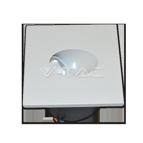 3W LED Луна За Вграждане В Стена Квадрат 3000К