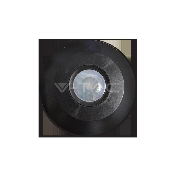 Сензор За Движение За Таван Плосък Черен