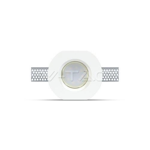 GU10 Гипсова Отливка Кръг ф100 Бял