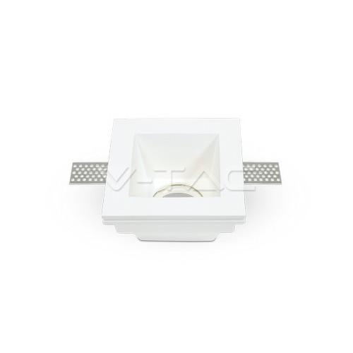 GU10 Гипсова Отливка Квадрат 100х100 Бял