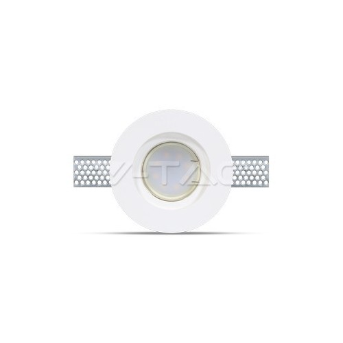 GU10 Гипсова Отливка Кръг ф103 Бял