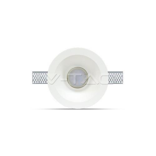 GU10 Гипсова Отливка Кръг Дълбока ф132 Бял