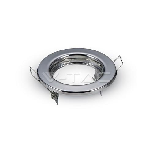 GU10 Корпус Луна Кръг Неоринтируема Хром 2бр/кутия