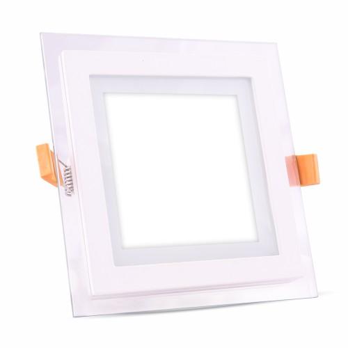 6W LED Панел Стъклено Тяло - Квадратен Модул