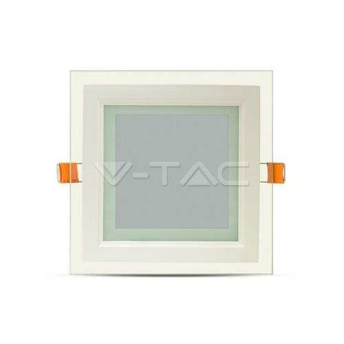 12W LED Панел Стъклено Тяло - Квадратен Модул