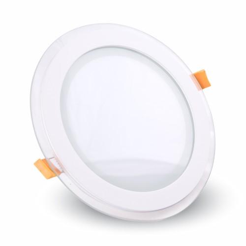 12W LED Панел Стъклено Тяло - Кръгъл Модул