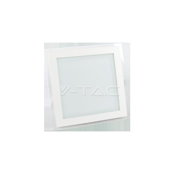 18W LED Панел Стъклено Тяло - Квадратен Модул