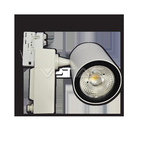 35W LED Прожектор Релсов Монтаж Бяло Тяло