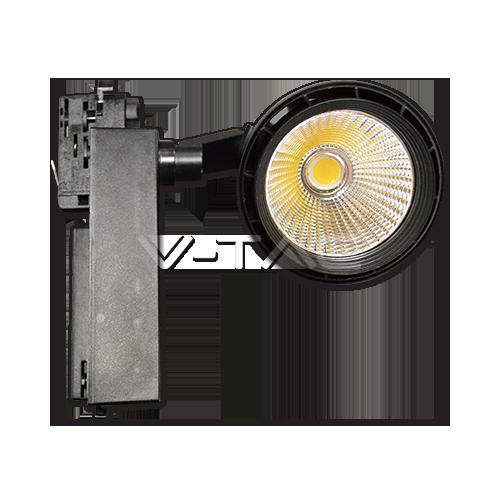 33W LED Прожектор Релсов Монтаж черно Тяло Бяла Светлина