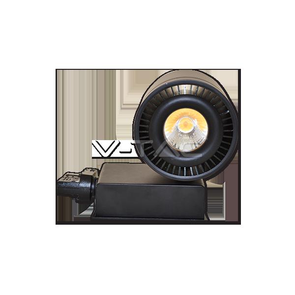 33W LED COB Прожектор Релсов Монтаж черно Тяло