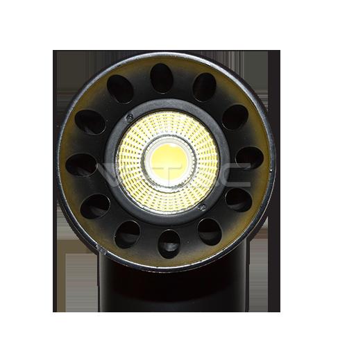 23W LED Прожектор Релсов Монтаж черно Тяло Кръг