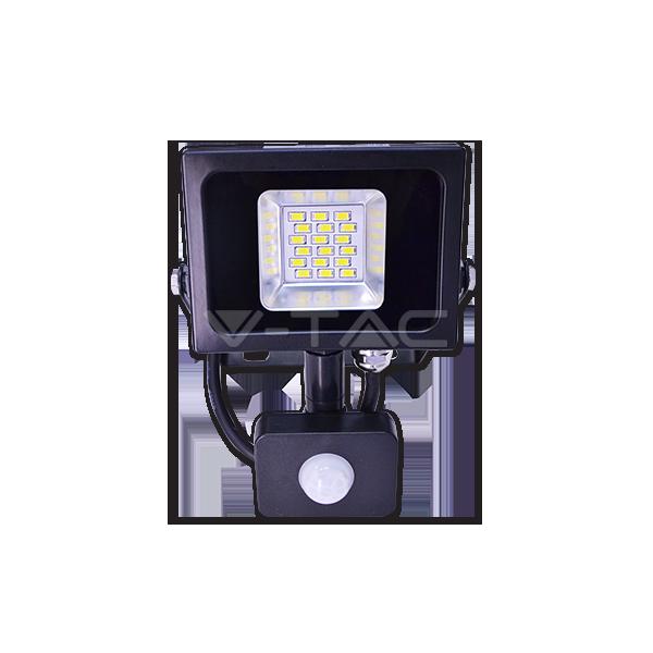 10W LED Прожектор Сензор SMD Черно Тяло Неутрално Бяла Светлина