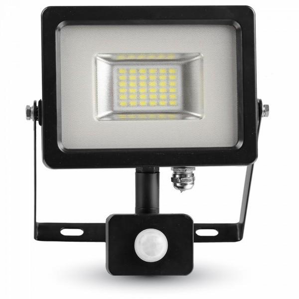 20W LED Прожектор Сензор SMD Черно Тяло