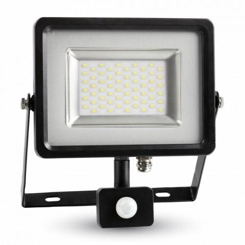 30W LED Прожектор Сензор SMD Черно Тяло